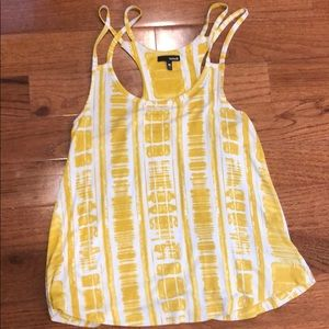 Hurley Yellow Patterned Tank
